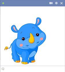 Ce petit rhinocéros est en attente pour vous de l'envoyer dans un message pour encourager la journée de quelqu'un