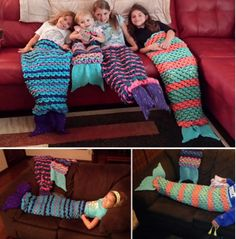 Mermaid Tail Blankets Free Crochet Patterns - find loads of awesome versions including Shark Crochet Blanket Free Patterns in our post Mermaid Tail Blanket Pattern, Crochet Mermaid Blanket, Crochet Mermaid Tail, Mermaid Blankets, Mermaid Tails, Crochet For Kids, Diy Crochet, Crochet Baby, Rainbow Crochet