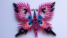 3D origami butterfly magnet 3 by akvees on Etsy