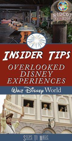 Overlooked Disney Experiences - Steps To Magic Disney World Parks, Disney World Planning, Walt Disney World Vacations, Disney Travel, Disney Worlds, Disneyland Trip, Disney World Tips And Tricks, Disney Tips, Disney Stuff
