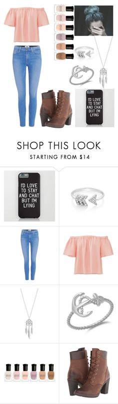 """""""My Eyes Adored You, But My Heart Told Me Differently"""" by ciarabagheera ❤ liked on Polyvore featuring EF Collection, Paige Denim, Rebecca Taylor, Lucky Brand, Deborah Lippmann and Timberland"""