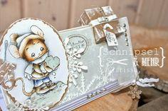 Schnipsel & MEHR - Päckchenkarte SEME mit Henry with snowheart