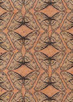 Emma Frances Designs: Louise Harding in the Spotlight Textiles, Textile Patterns, Textile Prints, Print Patterns, Surface Pattern Design, Pattern Art, Insect Art, Butterfly Print, Butterfly Design