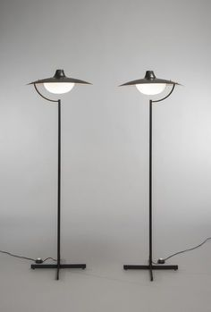 Jacques Biny | Pair of floor lamps 291 (1964) | Artsy