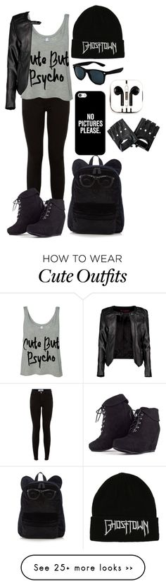 """Idek"" by xxkmtmxx on Polyvore featuring Boohoo, PhunkeeTree and Casetify"