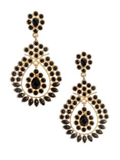 1/3/13 |Breese Teardrop Earrings by Amrita Singh on Gilt.com |confession: think i'm subconsciously trying to be black Divya from Royal Pains. LOL!