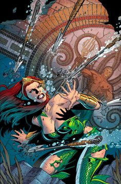 Wife of Aquaman and former Queen of Atlantis, Mera is from Xebel, a watery dimension inhabited by an exiled group of Atlanteans.