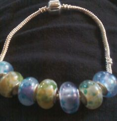 'Beautiful Unique Calico Blue Pandora Bracelet' is going up for auction at 11am Tue, Dec 11 with a starting bid of $5. Avon, Pearl Necklace, Pandora, Auction, Pearls, Unique, Bracelets, Blue, Beautiful