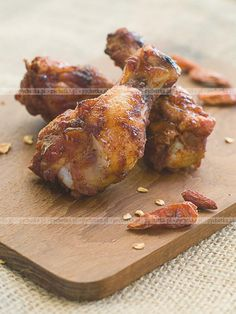 Photo about Fried chicken wings with chilli, selective focus. Image of chicken, spicy, fried - 26414810 Lemon Garlic Butter Shrimp, Lemon Butter Sauce, Polish Recipes, Polish Food, Chicken Images, Shrimp And Broccoli, Fried Chicken Wings, Tasty, Yummy Food