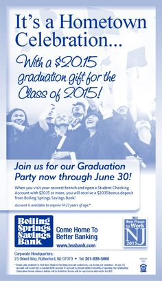 Hey New Jersey Families of grads...What a gift for #GardenStateGrads from @BSSBankNJ