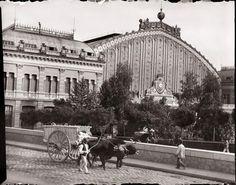 Diego González Ragel - Estación de Atocha, vissta exterior - Madrid 1920