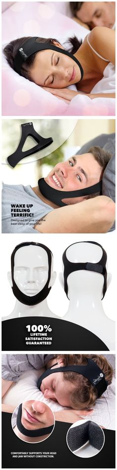 Chin Straps: Sleepwell Pro Adjustable Stop Snoring Chin Strap (Black) -> BUY IT NOW ONLY: $44.84 on eBay!