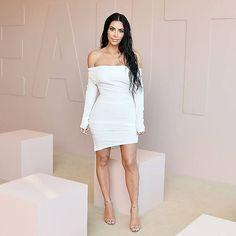 kim kardashian vestido blanco @lirish.wear