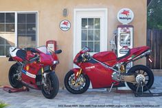 Couple of interesting Ducati's. A engined and a (Jim Gianatsis) Ducati 999r, Ducati Cafe Racer, Ducati Motorcycles, Cars And Motorcycles, Yamaha, Biker Photography, Motorcycle Garage, Bike Life, Sport Bikes