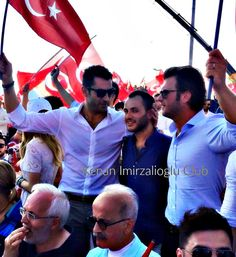 #kenaİmirzalıoğlu , #SinemKobal and #KıvançTatlıtuğ at #Yenikapı (7/8/2016).