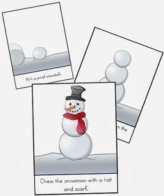 namc montessori sequencing snowman printable