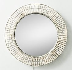 Illuinated Crystal Large Round Mirror | RH TEEN