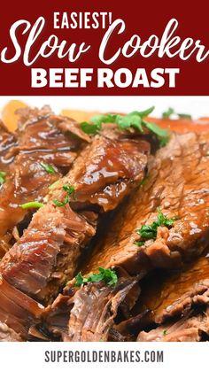 Slow Cooker Beef Tenderloin, Slow Cooker Brisket, Beef Pot Roast, Roast Beef In Slow Cooker, Crock Pot Roast Beef, Beef Brisket Crock Pot, Balsamic Roast Beef, Slow Cooked Beef Brisket, Best Roast Beef