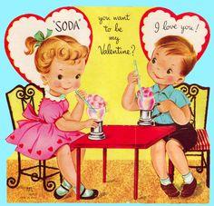 **FREE ViNTaGE DiGiTaL STaMPS**: FREE Vintage Valentine - Two Cute Children