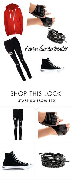 """""""Aaron Genderbender Normal Style (Aphmau)"""" by rosethorns8078 ❤ liked on Polyvore featuring Miss Selfridge, Converse and WearAll"""