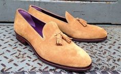 Carmima sand suede tassel loafer  http://www.theshoesnobblog.com/