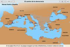 Recurso Educativo en Abierto Procomún. La historia democrática desde sus orígenes hasta su evolución en las sociedades occidentales.