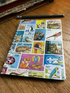 Stamp Collecting Album by Bulbjerg on Etsy