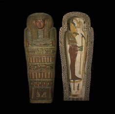 Outer coffin of Seshepenmehyt c.600 BC Late Period The inscriptions tell us little of Seshepenmehyt beyond the fact that she was 'lady of the house' and that she played the sistrum to accompany rituals in the temple of Amun-Ra at Thebes. X-rays of the mummy show that beneath the wrappings, is the body of an adult, who died between 25 and 40 years of age. (Source: The British Museum)