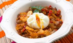 Migas con huevo flor #recetas #migas #huevo