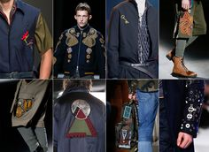 Patches in men's fashion #trends #patches #fashion #mensfashion #SS16 #AW16…