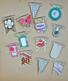 Just one more day until National Scrapbook Day, and here's another embellishment idea to share with you…decorative clips. Paper clips that is, and so quick to put together. All you need are some of the larger sized paper … Continue reading → Filofax, Scrapbooking Layouts, Scrapbook Cards, Scrapbook Borders, Scrapbook Titles, Pocket Scrapbooking, Scrapbook Designs, Wedding Scrapbook, Scrapbook Paper Crafts