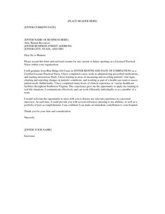 Cover Letter Template Lpn