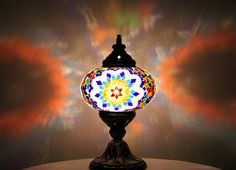 Decorative painted home light table lamp mosaic by Tribalarthome