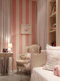 Best Ideas For Baby Girl Nursery Room Ideas Green Striped Walls Striped Walls Bedroom, Pink Striped Walls, Striped Nursery, Striped Room, Vertical Striped Walls, Pink And White Stripes, Girls Bedroom, Baby Bedroom, Nursery Room