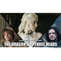 The Dragon Has Three Heads: Peter Dinklage as Tyrion Lannister, Emilia Clarke as Daenerys Targaryen and Kit Harington as Jon Snow