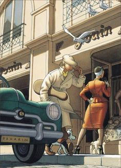 A sexualized Tintin! :D by: Claude Mirande Illustrateur Illustrations, Illustration Art, Heavy Metal Comic, Sketching Techniques, Ligne Claire, Art Deco Posters, Bd Comics, Arte Pop, Caricature