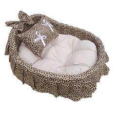 Dingang Lovely Princess 100 Cotton Pet Puppy Dog Cat Handmade Bed House sofa 4colors 3Size *** Want to know more, click on the image.