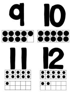 FREE Ten Frames Flash cards 1-40!
