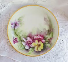 Wm Guerin & Co Limoges France Plate Antique Fine French