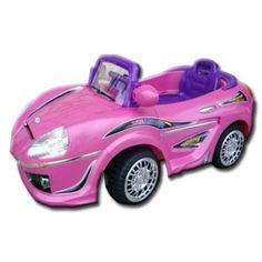 Let your kid drive with style and glam! This is the Dream Convertible by Best Ride On Cars. Designed elegantly with a touch of a classic feel. From the bright and attractive color finish, wheels with chrome accents, a 12-volt battery that can run up to 3 - 4 mph, working headlights, functional radio and horn and real side mirrors makes this kid's electric car a true must have. Don't forget the durable plastic body design. Perfect gift for any occasion at an affordable price!