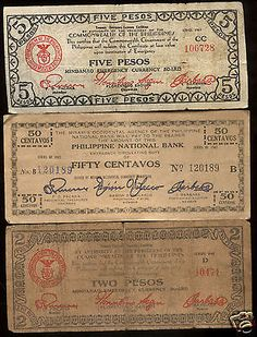 Rare Very Old Antique Japanese Occupation WWII 1942 1943 Banknote Collection Lot