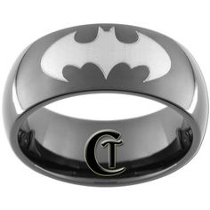 Geek Bridezilla: Superhero Wedding I do…swear to seek revenge and pursue justice. (Tungsten Carbide Batman Ring for Him by Custom Tungsten) Though I have rarely fantasized about myself walking down. Batman Ring, I Am Batman, Batman Stuff, Superman, Eternity Ring Diamond, Diamond Wedding Rings, Wedding Bands, Wedding Things, White Topaz