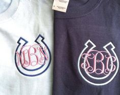 Long Sleeve Horse Shoe Monogram Shirt by DesignsbyADF on Etsy… Equestrian Outfits, Equestrian Style, Horse Gear, Horse Shirt, Monogram Shirts, Clothes Horse, Cute Shirts, Branded T Shirts, Shirt Designs