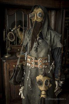 #steampunk  work in progress: Plague Doctor  www.steampunker.de
