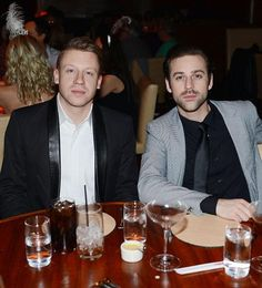 Macklemore & Ryan Lewis dine at STACK at The Mirage with close friends, Macklemore's fiancee and mother in law on Dec 31, 2014