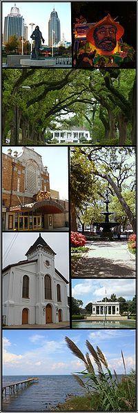 Mobile Montage - Downtown, Mardi Gras, Avenue of Oaks, Museums, Plaza, Gardens