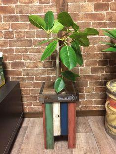 【簡単DIY】古材風カラー塗装で 鉢カバーDIY