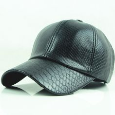 Leather Hat For Men And Women Summer Casual Baseball Cap Cascos 6a389ccd23c