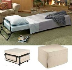 Pull out ottoman bed.. Amazing!