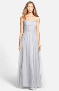 ML Monique Lhuillier Bridesmaids Back Drape Tulle Gown | Nordstrom